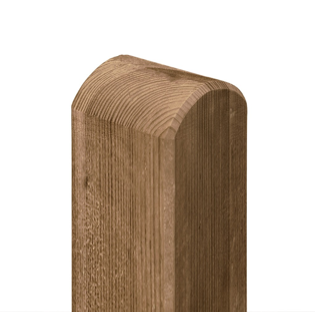 Zaunpfosten / Holzpfosten Rundkopf kdi braun 9x9cm Länge 95cm Bild 1