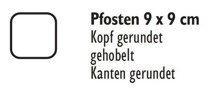 Zaunpfosten / Holzpfosten Rundkopf kdi grün 9x9cm Länge 95cm Bild 2