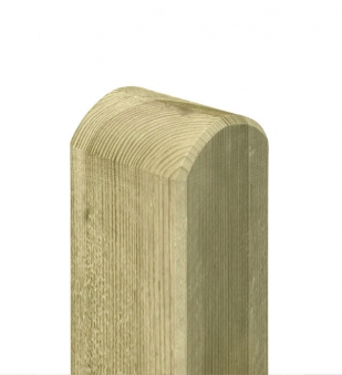 Zaunpfosten / Holzpfosten Rundkopf kdi grün 9x9cm Länge 95cm Bild 1