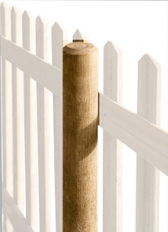 Zaunpfosten / Holzpfosten rund kdi braun Ø8cm Länge 100cm Bild 1