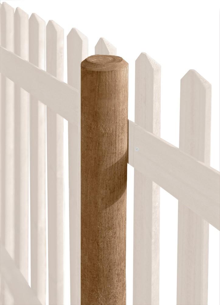 Zaunpfosten / Holzpfosten rund kdi braun Ø8cm Länge 125cm Bild 1