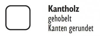 Zaunpfosten / Kantholz gekappt KDI grau 9x9cm Länge 90cm Bild 2