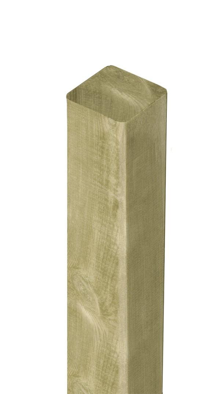 Zaunpfosten / Kantholz gekappt kdi grün 9x9cm Länge 180cm Bild 1
