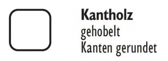Zaunpfosten / Kantholz gekappt kdi grün 9x9cm Länge 90cm Bild 2