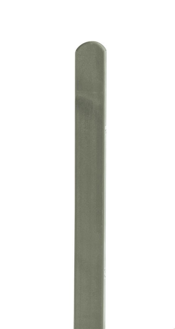 Zaunpfosten Rundkopf Dimplex lasiert grey-nature 9x9x100cm Bild 1