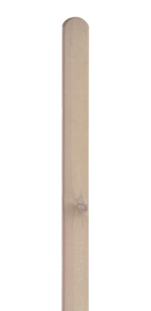 Zaunpfosten Rundkopf Dimplex lasiert sandton 9x9x100cm Bild 1