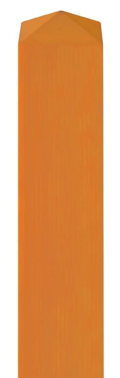 Zaunpfosten Vierkant BM Massivholz 90x90 Lärche kirschbaum geölt 190 Bild 1