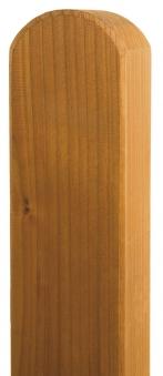 Zaunpfosten Vierkant BM Massivholz 90x90mm Douglasie geölt 100cm Bild 1