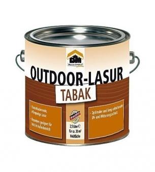 BM Massivholz Holzschutzlasur / Outdoor Lasur tabak 2,5 Liter