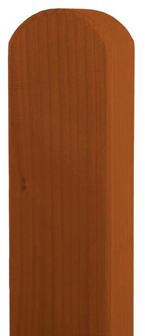 Zaunpfosten Vierkant BM Massivholz 90x90mm Fichte tabak lasiert 190cm Bild 1