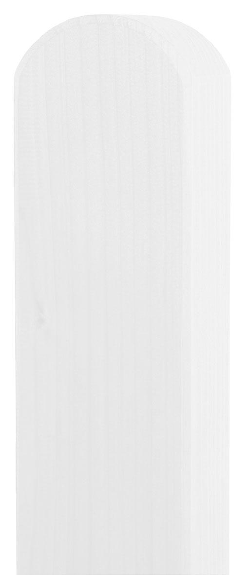 Zaunpfosten Vierkant BM Massivholz 90x90mm Fichte weiß lasiert 190cm Bild 1