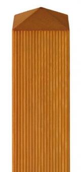 Zaunpfosten Vierkant BM Massivholz 90x90mm Lärche geölt 100cm Bild 1