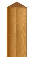 Zaunpfosten Vierkant BM Massivholz 90x90mm Lärche geölt 190cm Bild 1