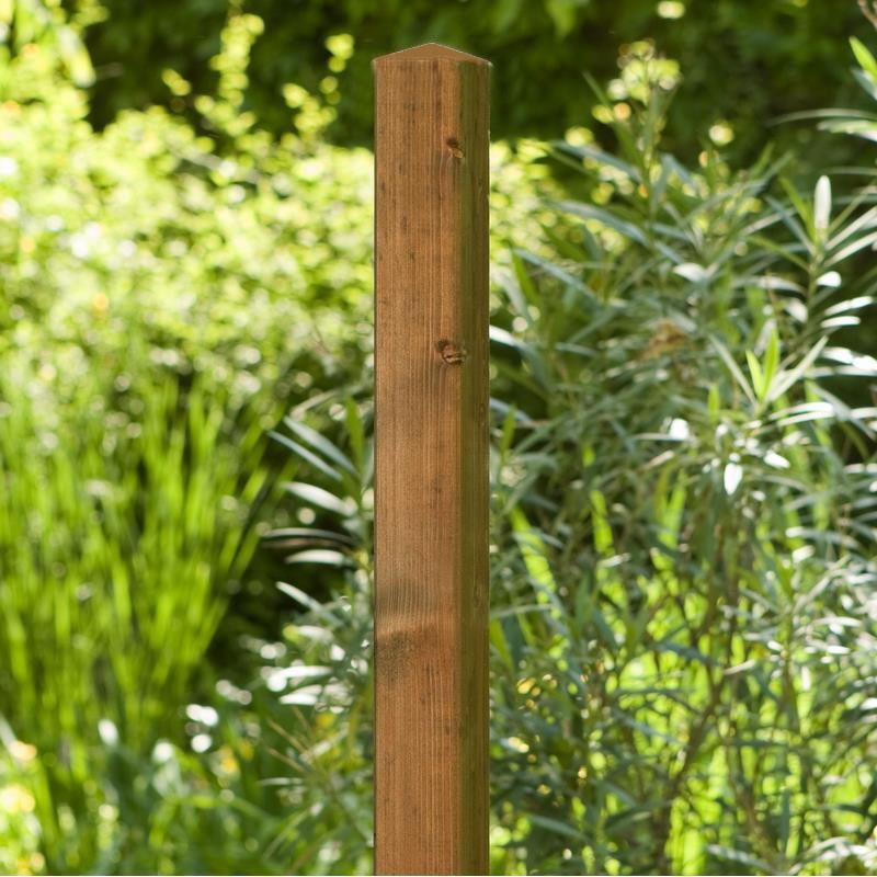 Zaunpfosten / Vierkantpfosten Noor 7x7cm Kiefer gebeizt 190cm Bild 1