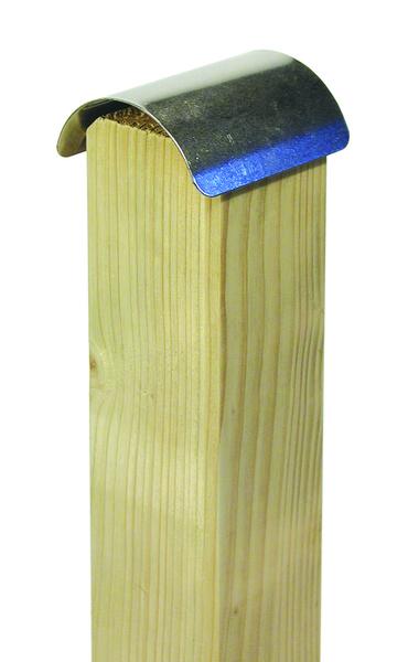 GAH Alberts Holzpfostenkappe gewölbt Edelstahl 70x70mm Bild 2