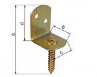 GAH Alberts L-Winkel / Flechtzaunhalter mit Schraube gelb verzinkt Bild 1