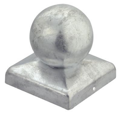 GAH Alberts Pfostenkappe mit Kugel für Holzpfosten 9x9cm feuerverzinkt Bild 1
