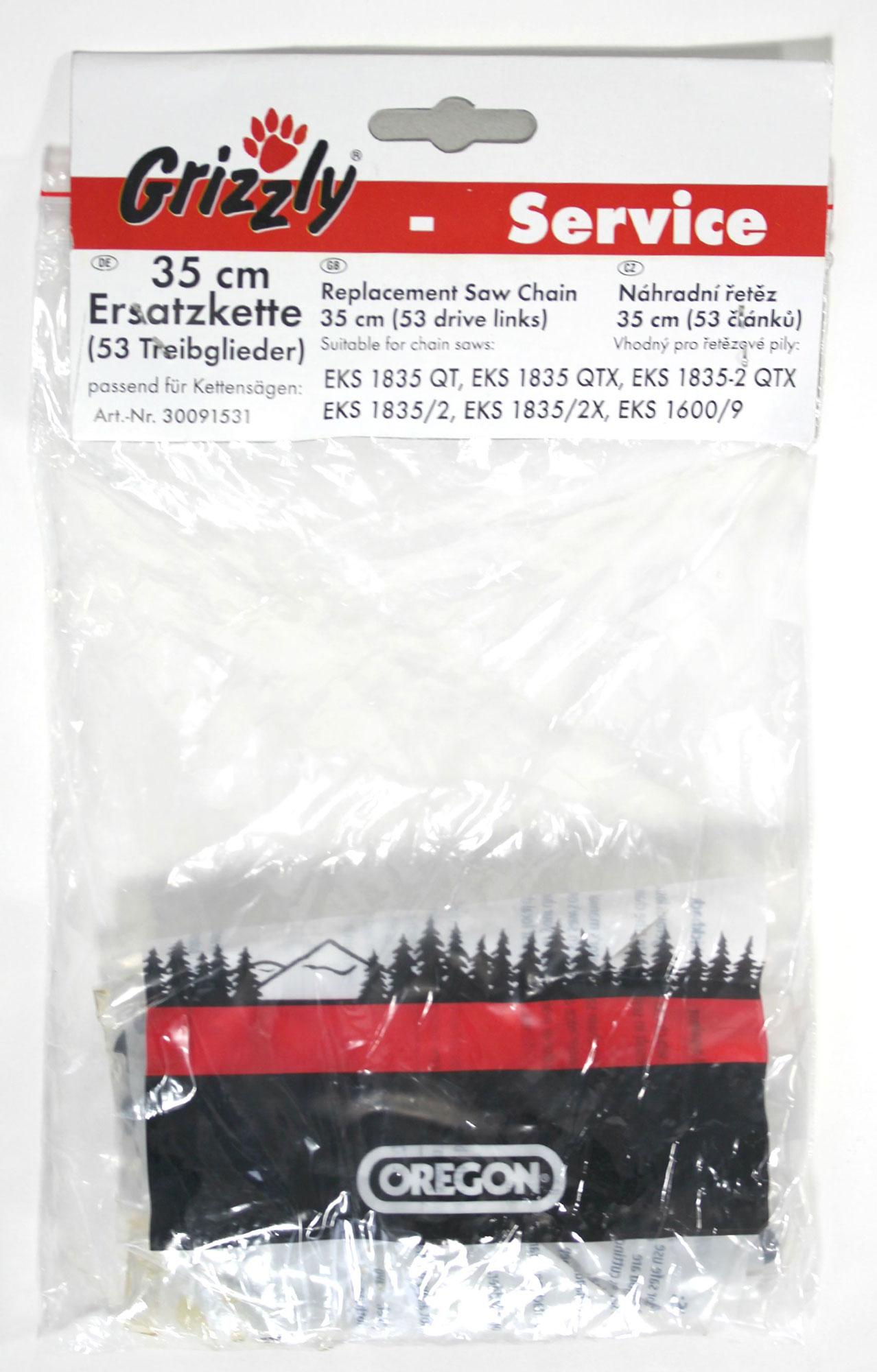 Ersatzkette Oregon 35 cm für Grizzly Kettensäge Bild 1