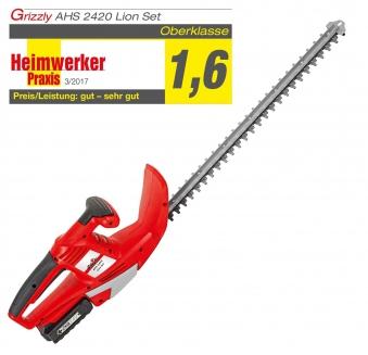 Akku Heckenschere Grizzly AHS 2420 Lion inkl. Akku 24 V Li-Ion Bild 1