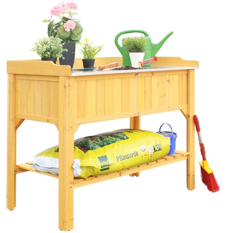 arbeitsplatte habau f r hochbeet holz 119x60x10 5cm bild 2. Black Bedroom Furniture Sets. Home Design Ideas