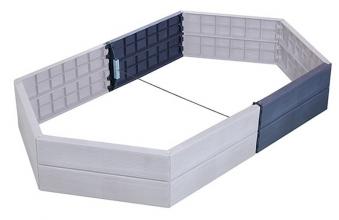 Ergo Hochbeet Verlängerung Kunststoff 55cm Set GARANTIA Bild 1