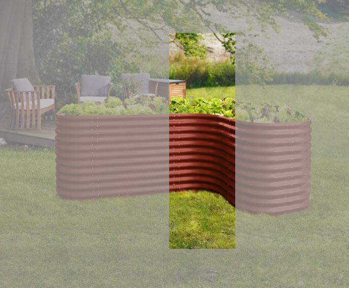 Erweiterung für Hochbeet Vitavia Basic 858 rubin 80x86cm