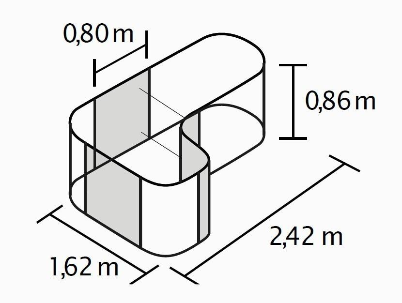 Erweiterung Curve Fur Hochbeet Vitavia Basic 858 Rot 80 162x86cm