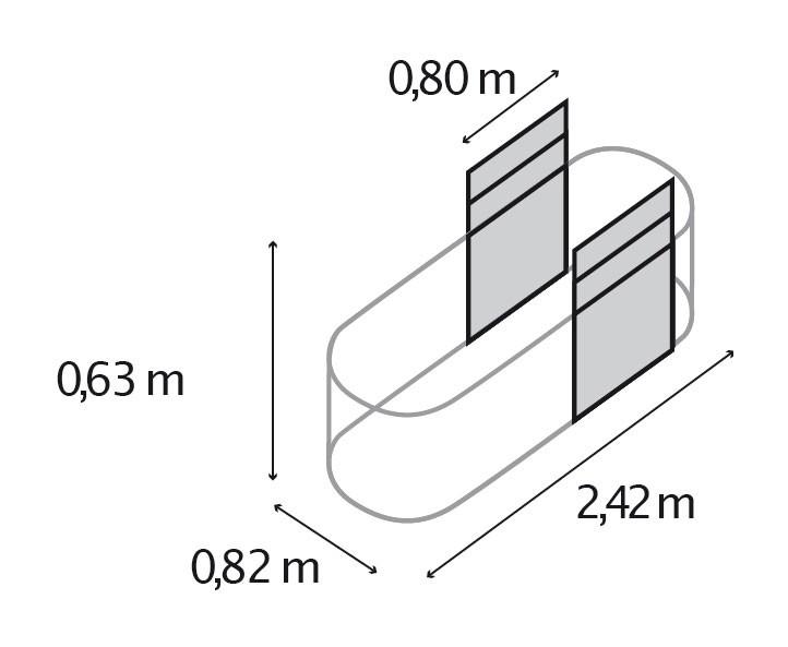 Erweiterung Fur Hochbeet Vitavia Basic 630 Silber 80x63cm Bei
