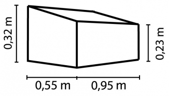 Frühbeet / Beetkasten Vitavia Levana 2 Kiesel 95x55x32cm Bild 2