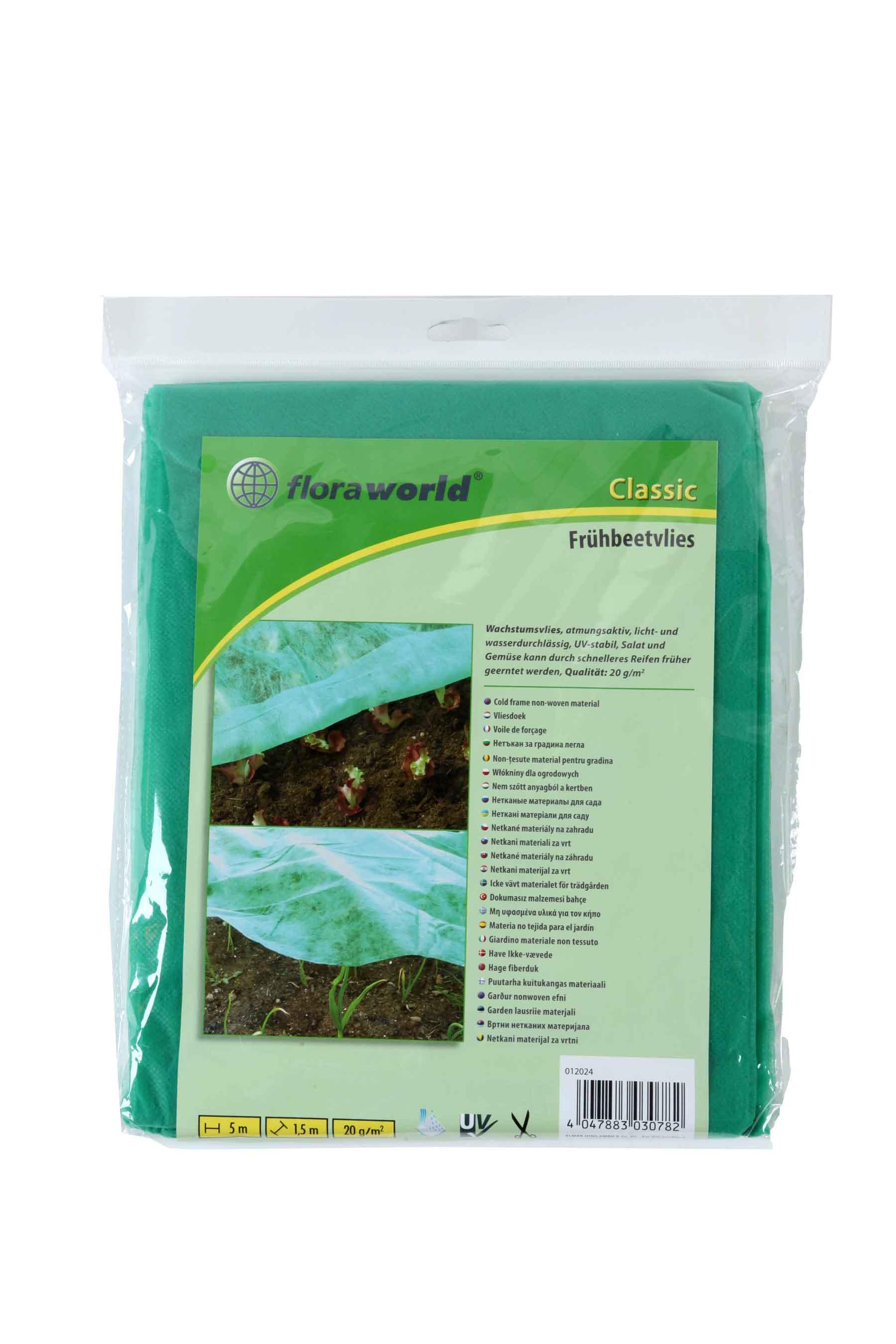 Frühbeetvlies / Wachstumsvlies classic floraworld 5x1,5m grün Bild 1