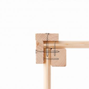 Hochbeet 19 mm Karibu 1 mit Schrankoption sandbeige 133x69x82cm Bild 3