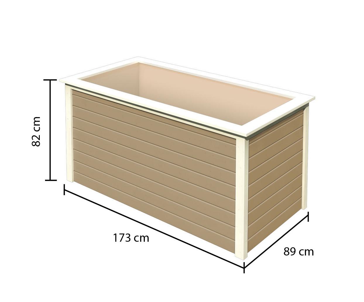 Hochbeet 19 mm Karibu 2 sandbeige 173x89x82cm Bild 3
