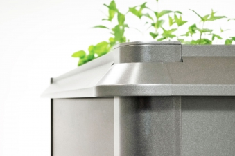 Schneckenschutz für Biohort Hochbeet 2x2 quarzgrau-metallic