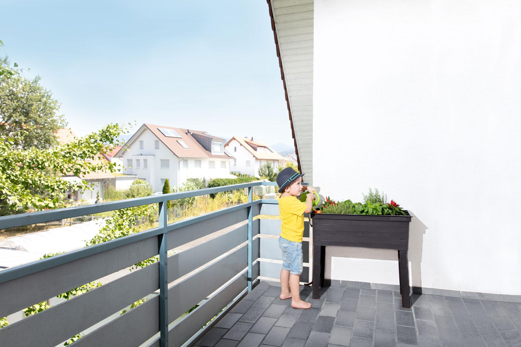 Hochbeet GARANTIA Balkon-Hochbeet Urban 75x37x65cm Bild 5