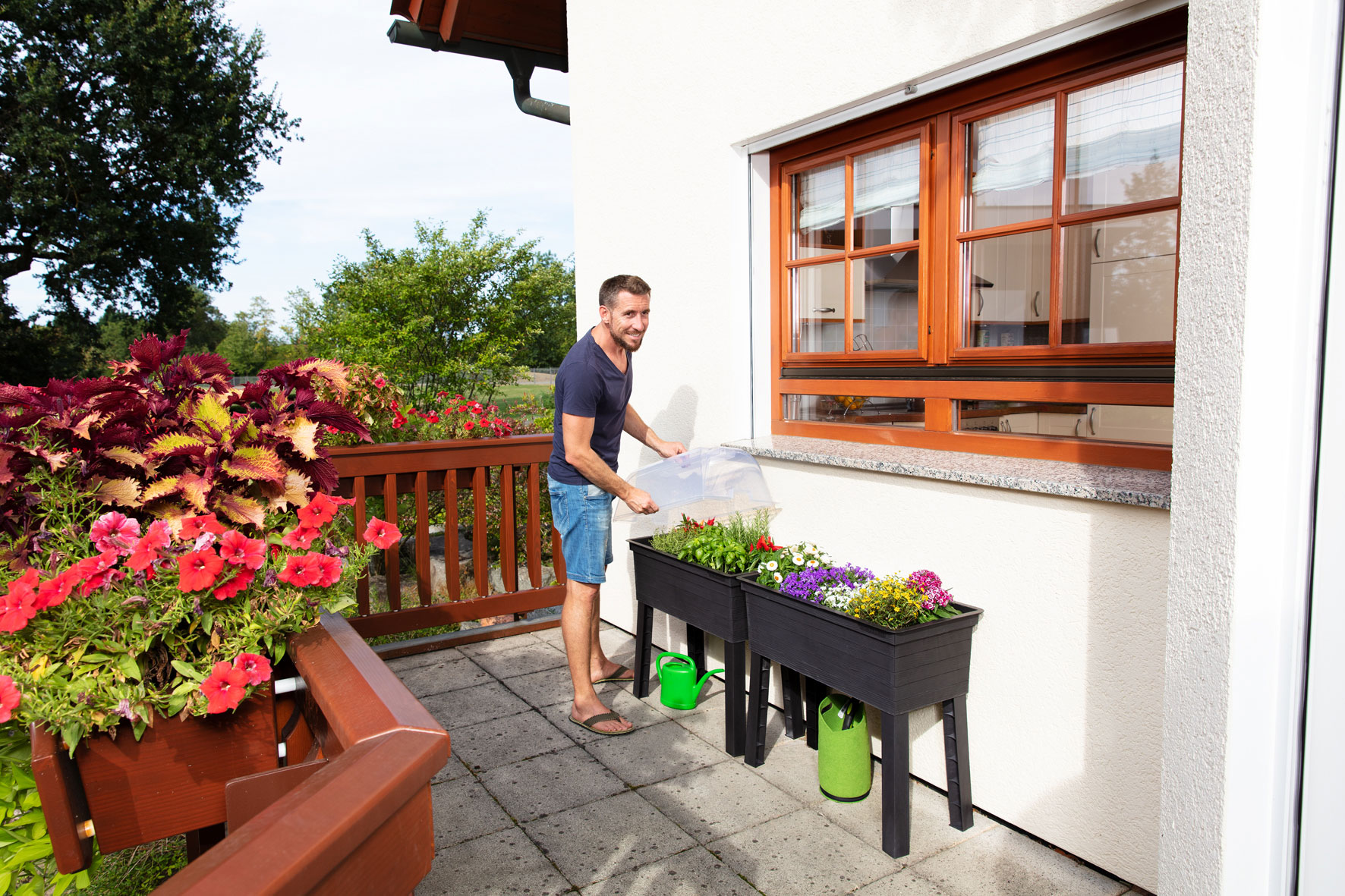 Hochbeet GARANTIA Balkon-Hochbeet Urban 75x37x65cm Bild 6