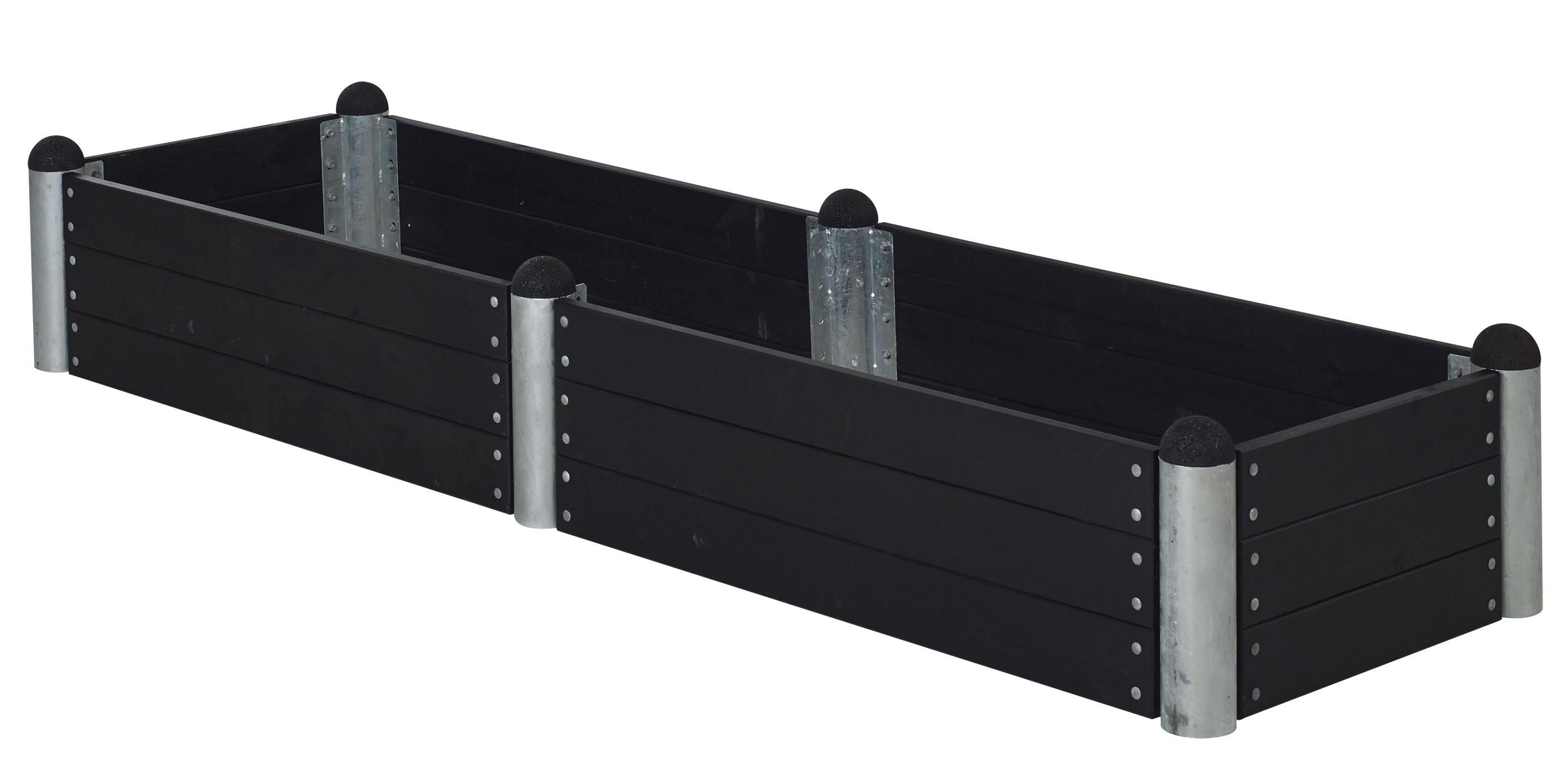 Hochbeet PIPE10a Modulsystem Plus 270x80x36cm kdi schwarz Bild 1