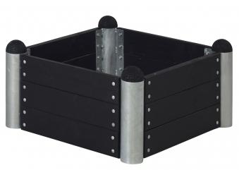 Hochbeet PIPE6a Modulsystem Plus 80x80x36cm kdi schwarz Bild 1