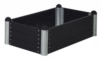 Hochbeet PIPE8a Plus Modulsystem Plus 140x80x36cm kdi schwarz Bild 1