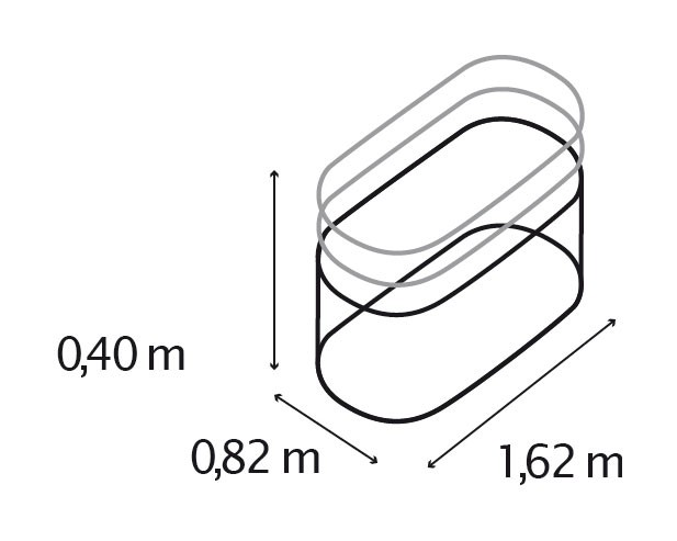 Hochbeet Vitavia 401 Basic Silber 162x82x40cm Bei Edingershops De