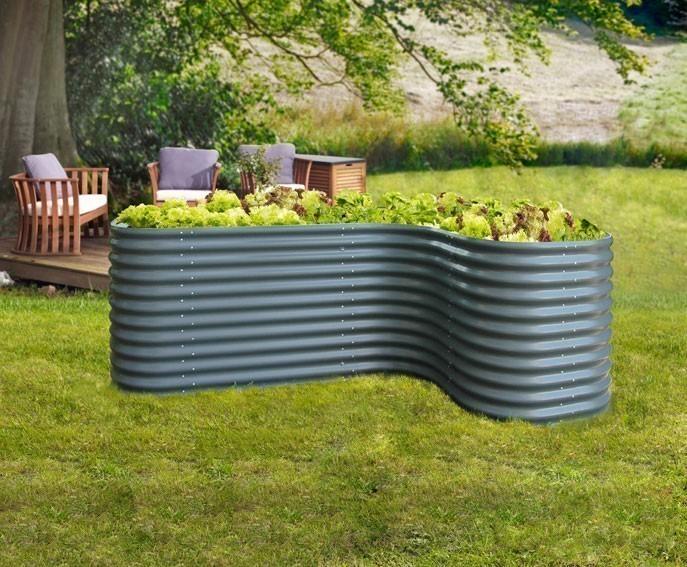 hochbeet vitavia 858 basic grau 162x82x86cm bei. Black Bedroom Furniture Sets. Home Design Ideas