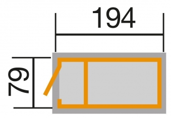 Hochbeet Weka Profi 669 Eiche hell lasiert 194x79x81cm Bild 2