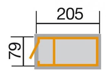 Hochbeet Weka Profi-Hochbeet 669 anthrazit 205x79x81cm Bild 2