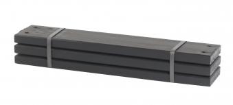 Holz Planken für PIPE Modulsystem Plus 3 Stück kdi schwarz Länge 60cm Bild 1