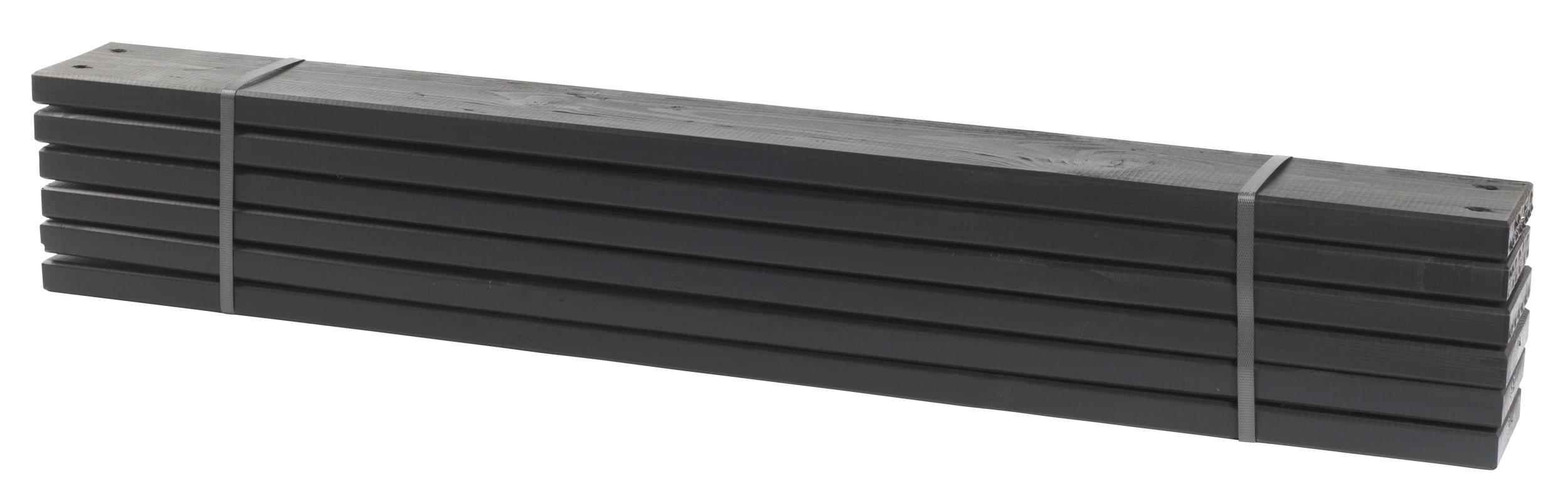 holz planken für pipe modulsystem plus 6 stück kdi schwarz länge