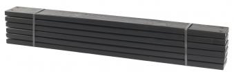 Holz Planken für PIPE Modulsystem Plus 6 Stück kdi schwarz Länge 120cm Bild 1