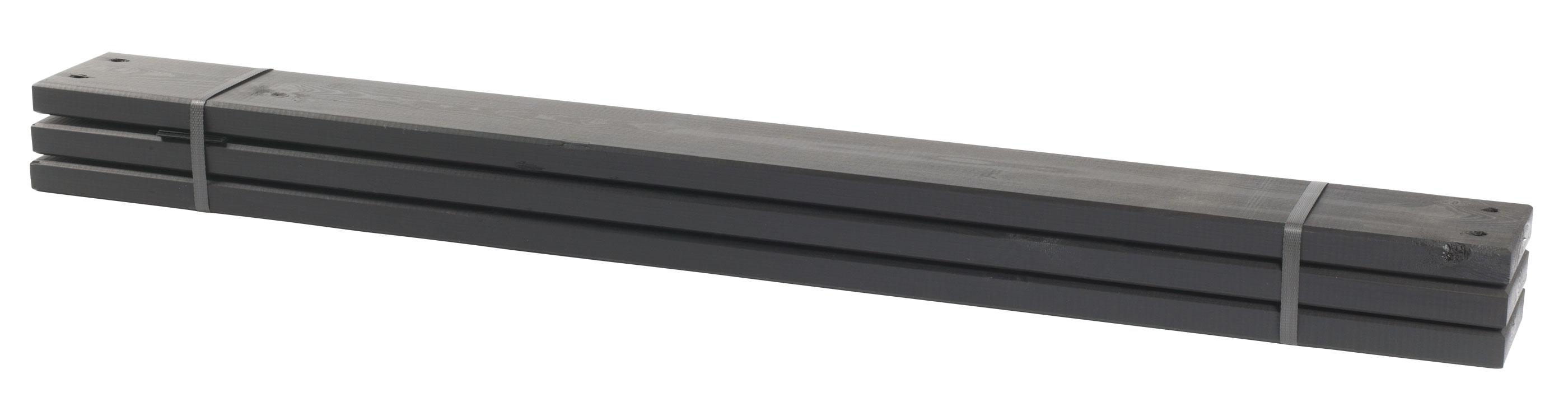 holz planken f r pipe modulsystem 6 st ck kdi schwarz. Black Bedroom Furniture Sets. Home Design Ideas