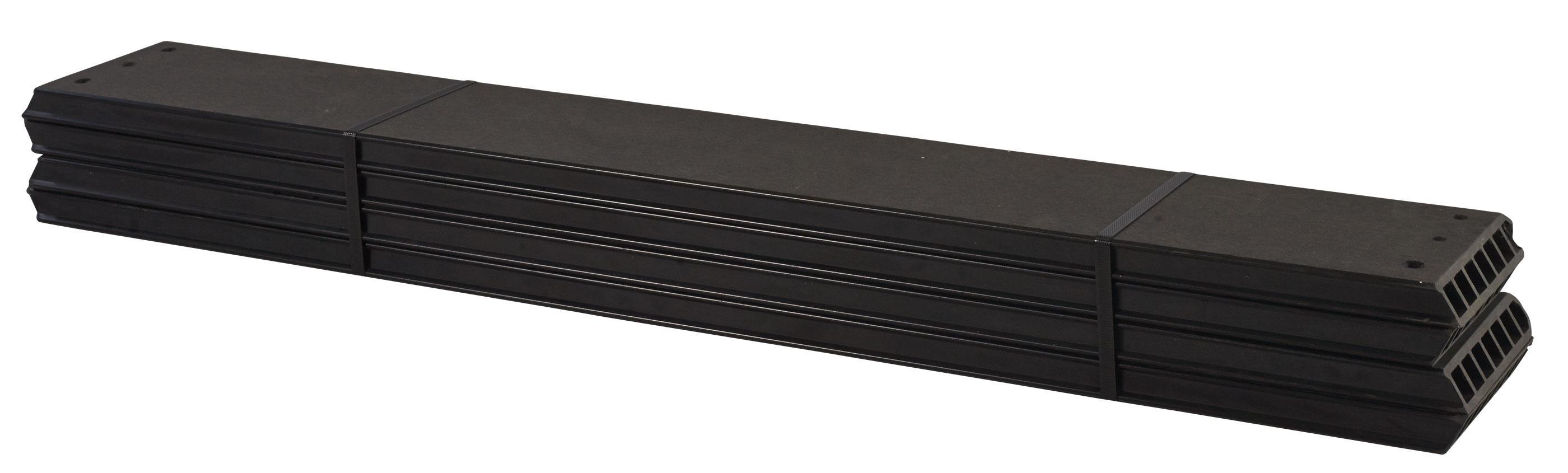 wpc planken f r pipe modulsystem 4 st ck schiefergrau l nge 120 cm bei. Black Bedroom Furniture Sets. Home Design Ideas