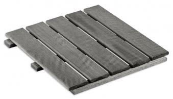 Holzfliese / Terrassenfliese Kiefer KI grau 50x50x3,2cm Bild 1