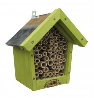 Insektenhotel Habau für Bienen mit Bambus 18x14x21,5cm Bild 1