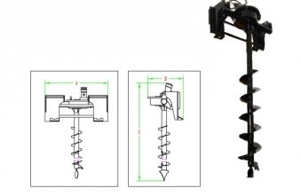 PowerPac Erdbohrer Zubehör für Multi-Lader ML350